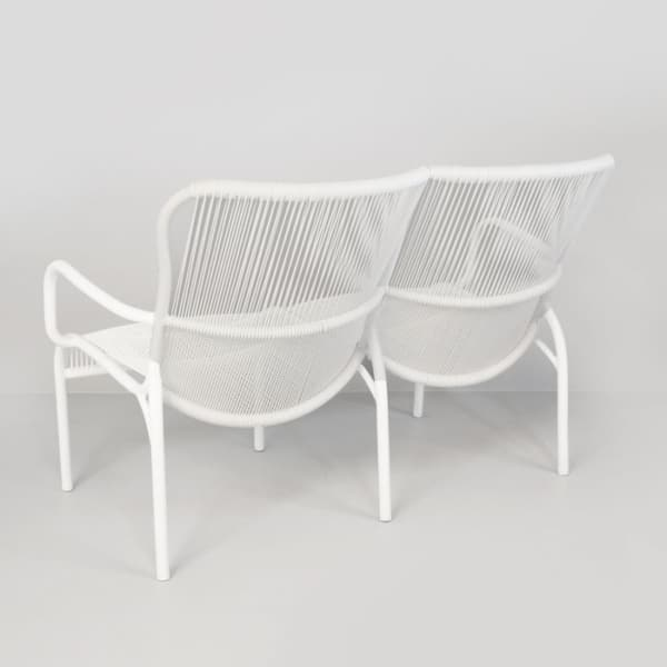 white loveseat back view