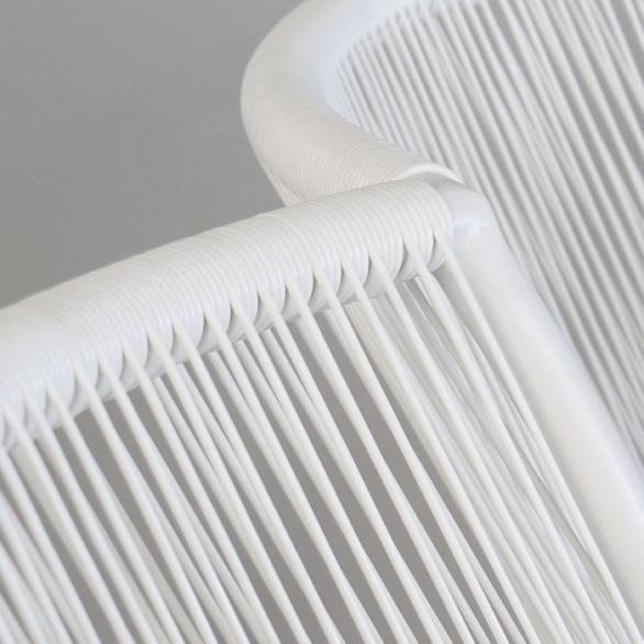 white high-density polyethylene close up