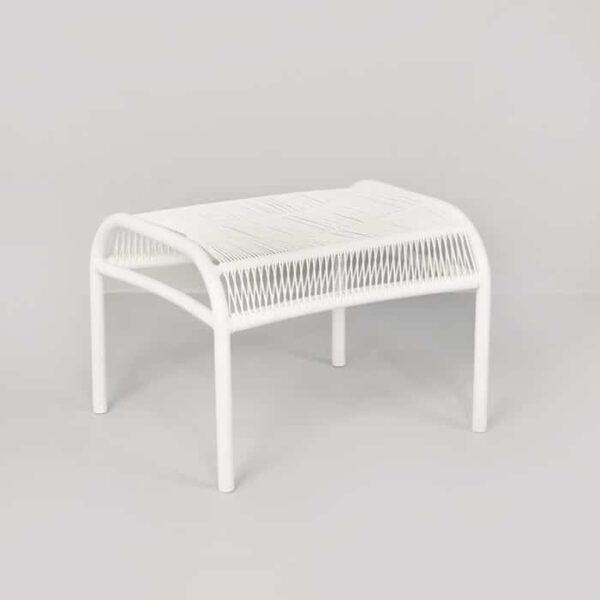 Luxe Outdoor Ottoman (White)-0