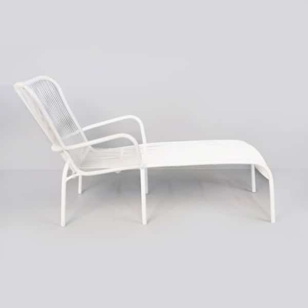 white sun bed side angle