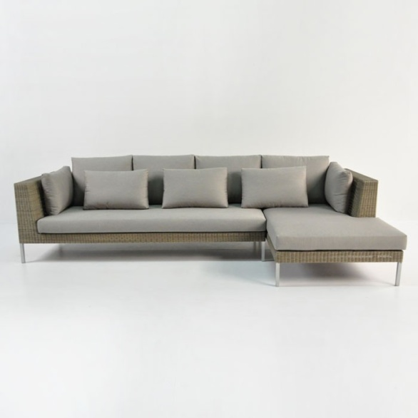 outdoor wicker sofa and chaise