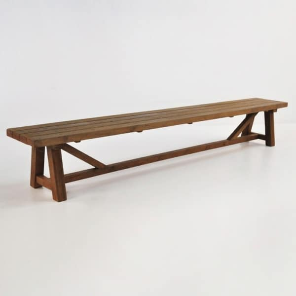 recycled teak dining bench
