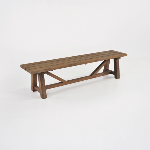 recycled teak outdoor dining bench