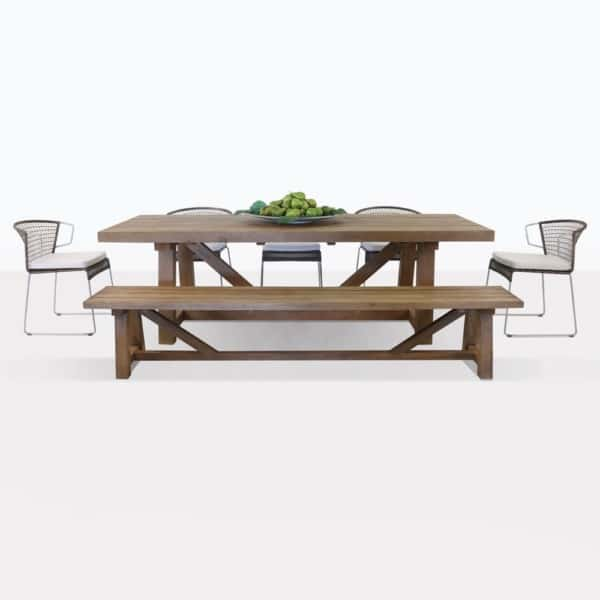 Trestle Table And Sophia Dining Set