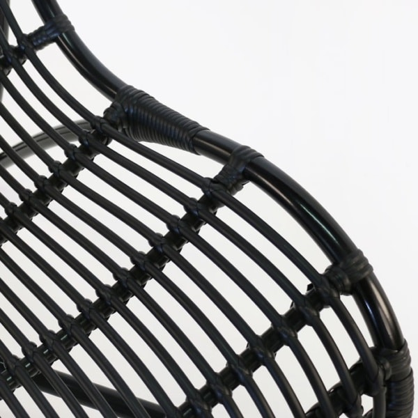 black wicker furniture closeup