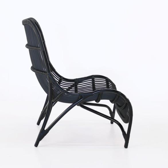 black outdoor wicker garden chair