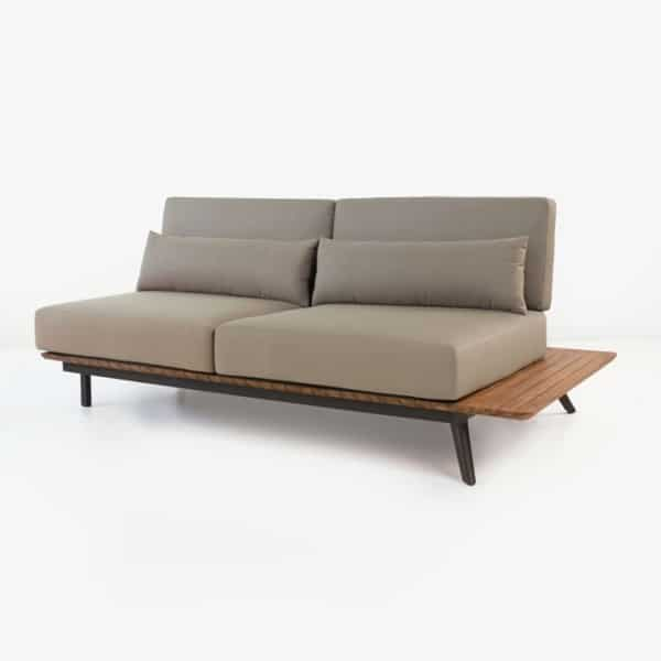 Platform Reclaimed Teak Sofa Daybed Left-0