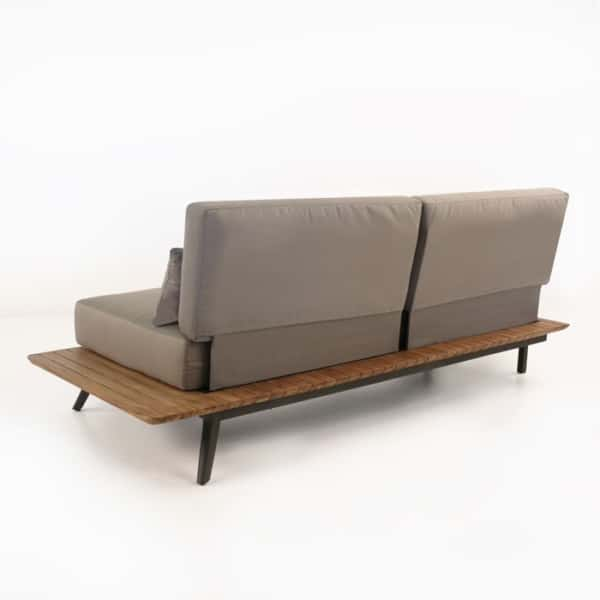 reclaimed teak outdoor sofa with cushions