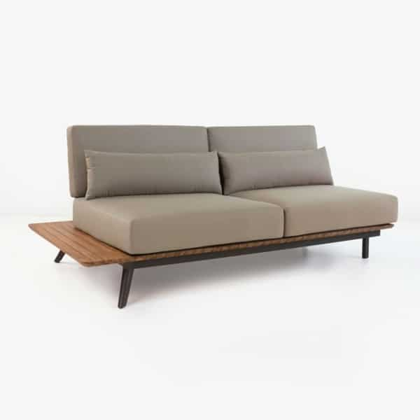 Platform Reclaimed Teak Sofa Daybed Right-0