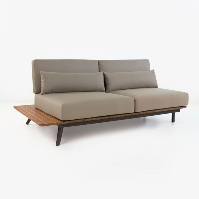Platform Reclaimed Teak Sofa Daybed Right 0