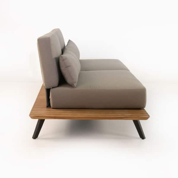 recycled teak sofa with cushions