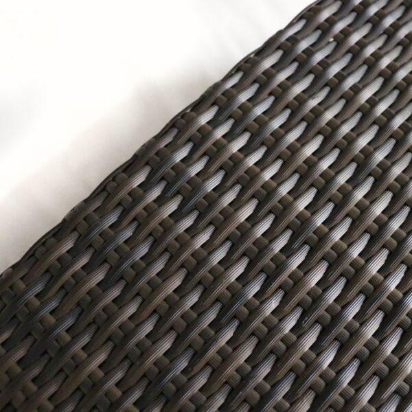 dark brown wicker with white pillows