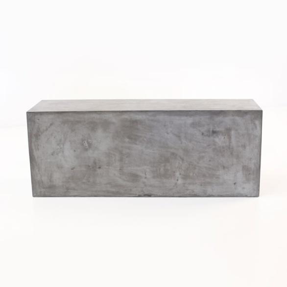 modern concrete bench
