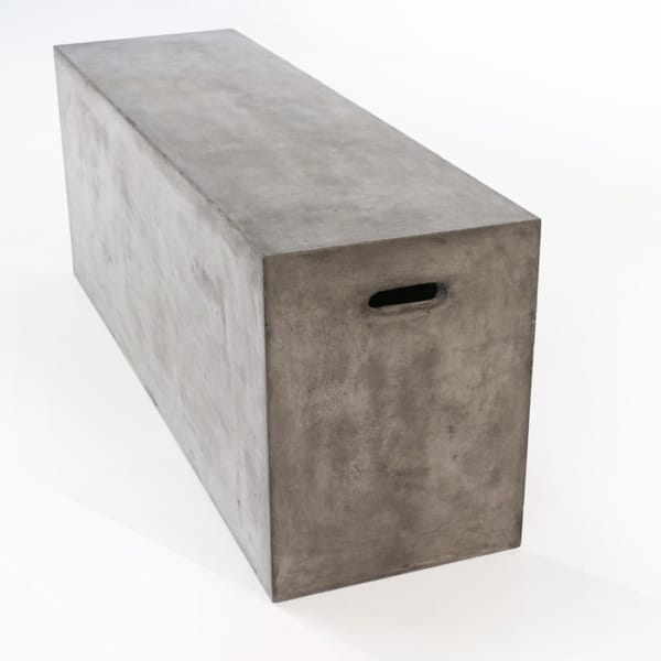 concrete outdoor sitting bench