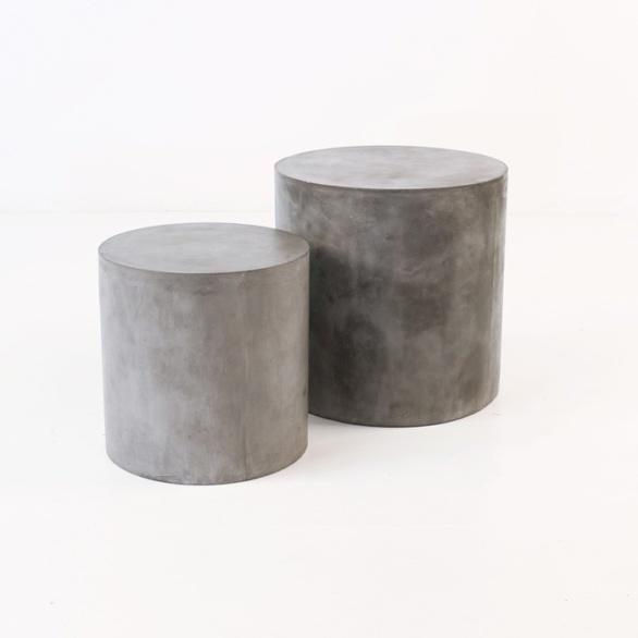 Blok Concrete Round Side Table-0