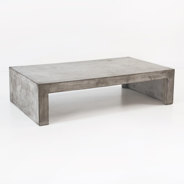 Blok Concrete Waterfall Coffee Table Patio Furniture Teak Warehouse