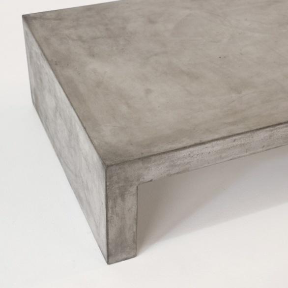 Blok Concrete Waterfall Coffee Table 0 Rectangular Concrete Coffee Table Outdoor Rectangle Modern Coffee Table