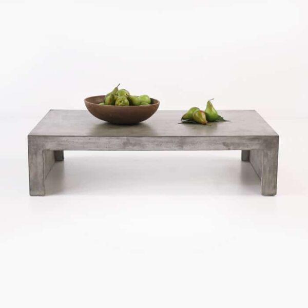 rectangular concrete coffee table