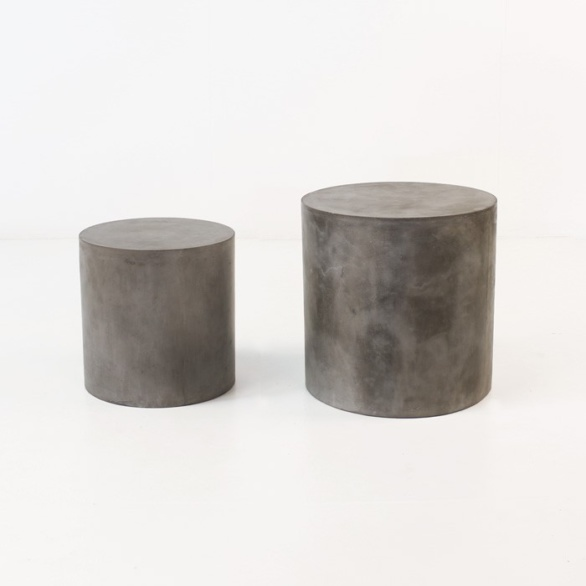 modern concrete accent table