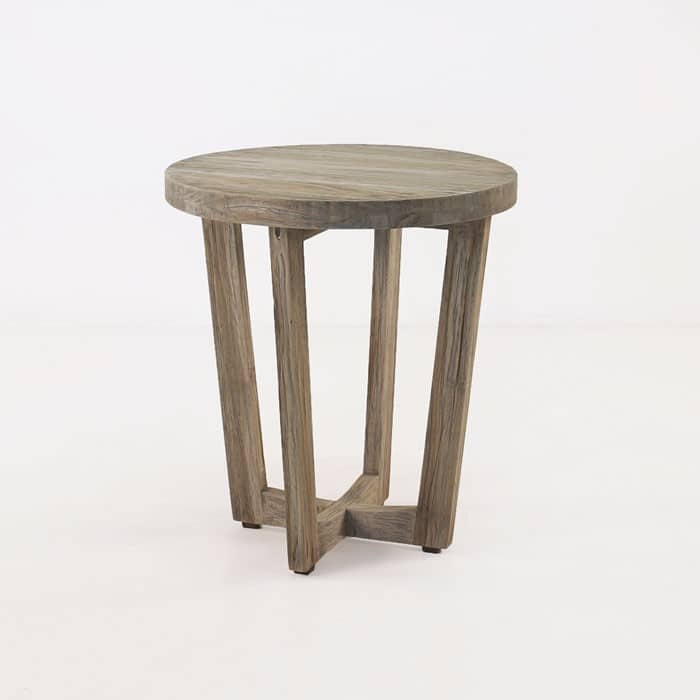 Teakwood accent table patio furniture teak warehouse for Outdoor teak side table