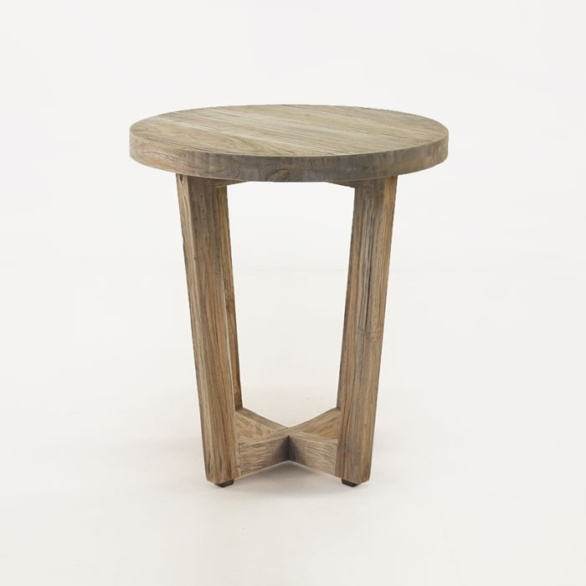 teak accent table