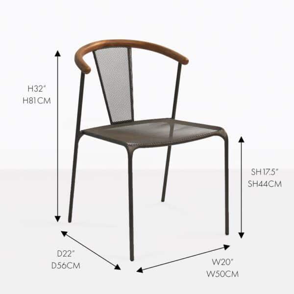deco aluminum dining chair