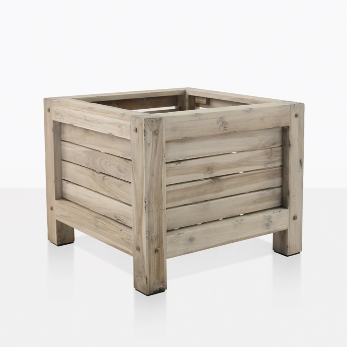 Lodge Square Teak Planter