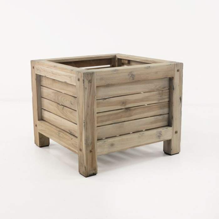 Lodge Distressed Teak Outdoor Planter-0