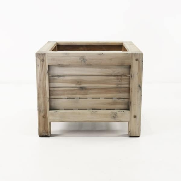 Distressed teak planter