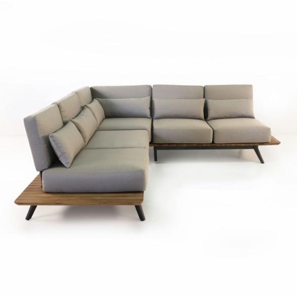 Platform Reclaimed Teak Sectional Outdoor Patio Sofa