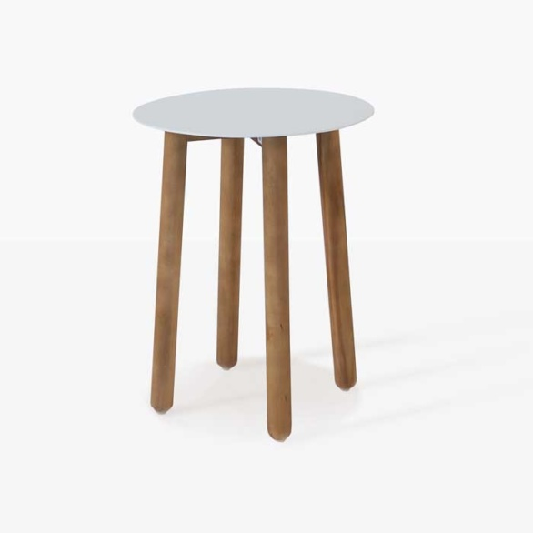 a-grade teak outdoor side table white