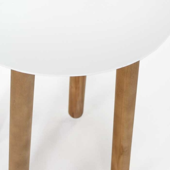 a-grade teak outdoor side table close up