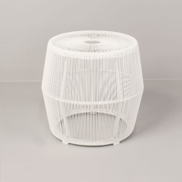 Barrel Outdoor Wicker Accent Table-0