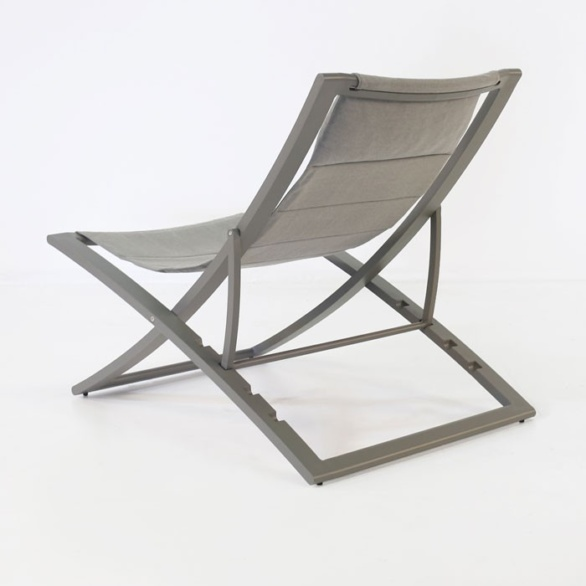 outdoor sling folding chair back view