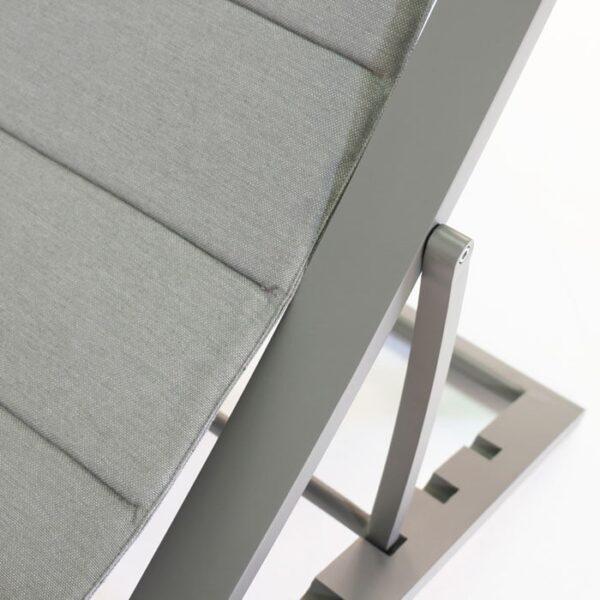 powder coated aluminum chair closeup image
