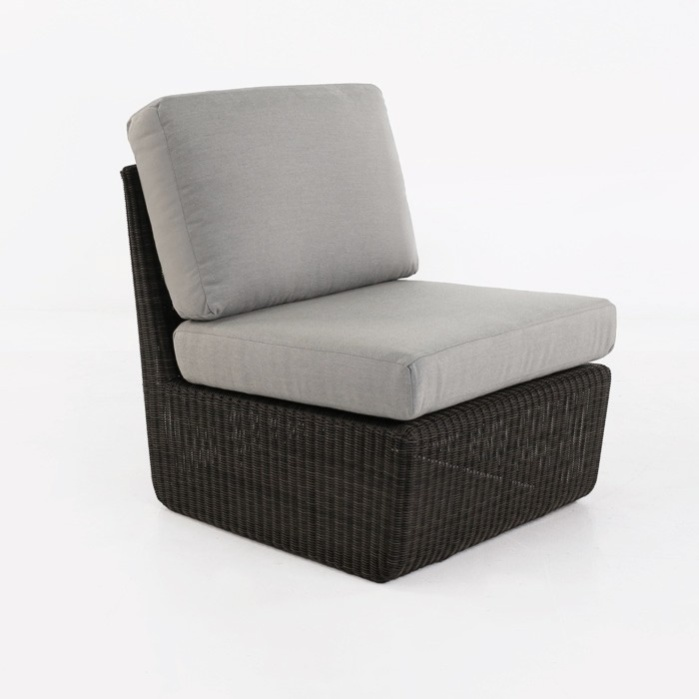 Brooklyn Outdoor Wicker Sectional Center Chair (Charcoal)-0