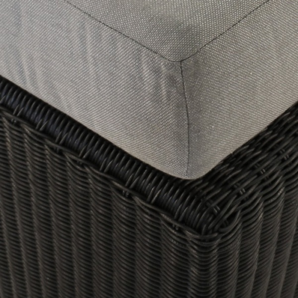 close up of black wicker weave
