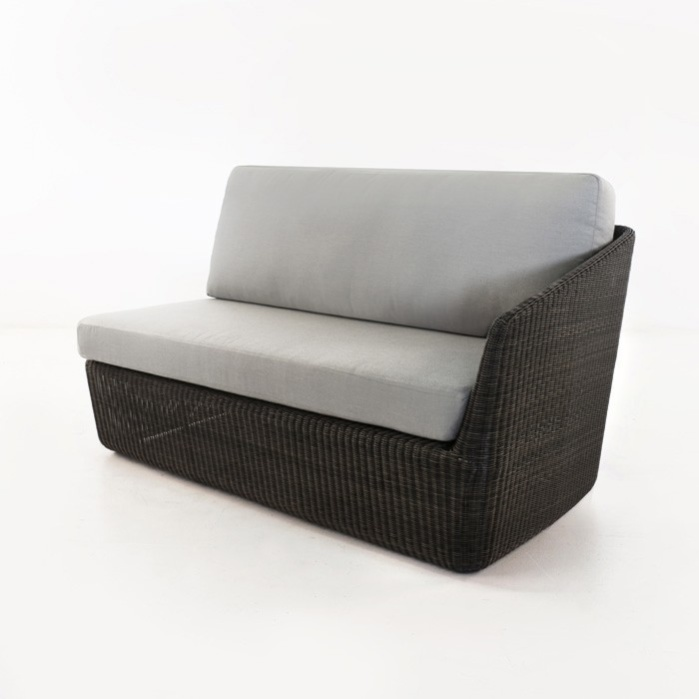 Brooklyn Outdoor Wicker Sectional Left Arm Sofa (Charcoal)-0