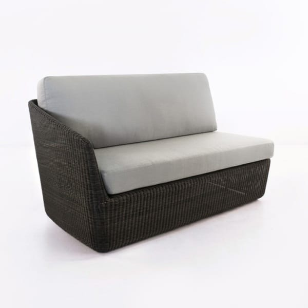 Brooklyn Outdoor Wicker Sectional Right Arm Sofa (Charcoal)-0