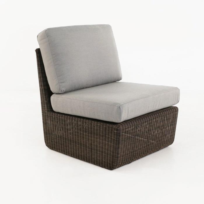 Brooklyn Outdoor Wicker Sectional Center Chair (Mocha)-0