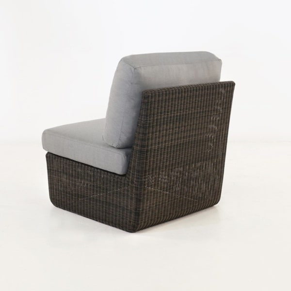 back view of brown wicker
