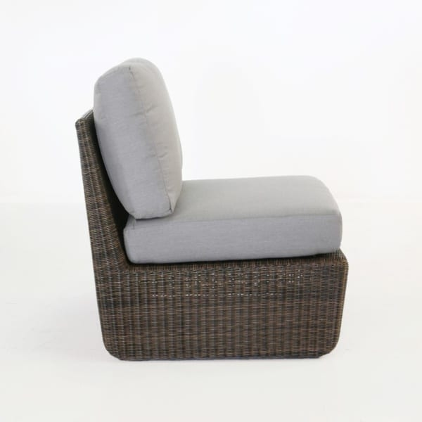 side view of brown wicker