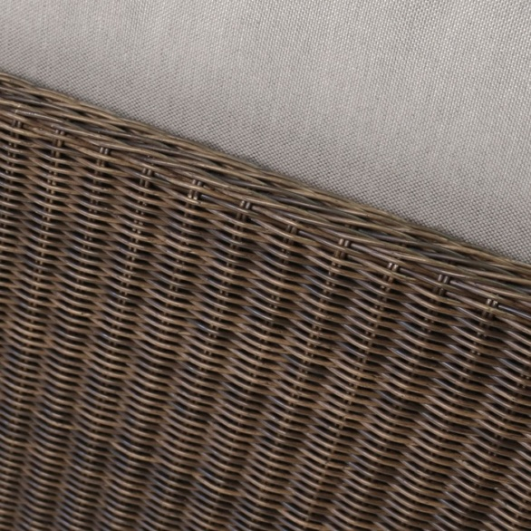 close up of brown wicker