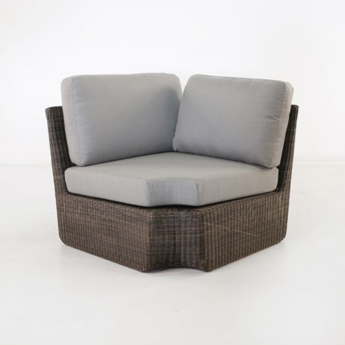 Brooklyn Outdoor Wicker Sectional Corner Chair (Mocha)-0