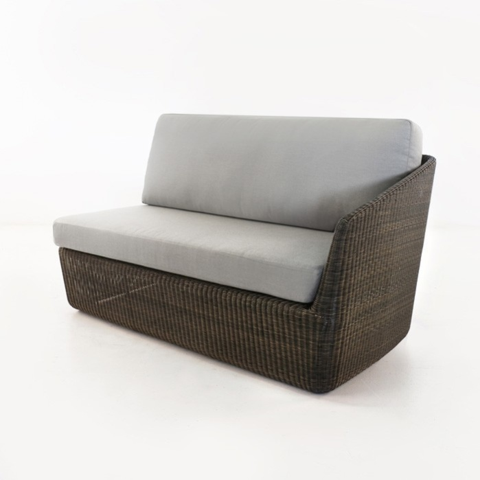 Brooklyn Outdoor Wicker Sectional Left Arm Sofa (Mocha)-0