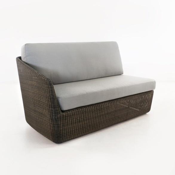 Brooklyn Outdoor Wicker Sectional Right Arm Sofa (Mocha)-0