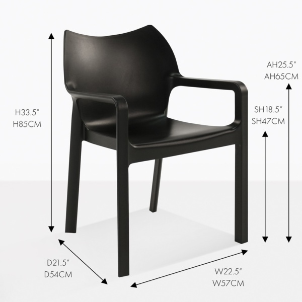 cape dining chair black