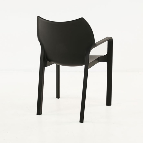 Cafe Dining Chair black back view