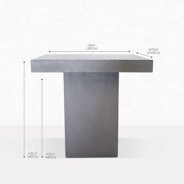 raw concrete counter table grey