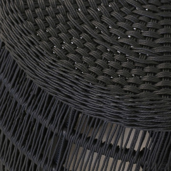 black wicker weave close up